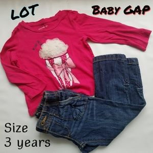 Lot Baby Gap toddler girl Size 3T jeans blouse